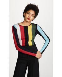 Diane von Furstenberg - Multicolor Crew Neck Metallic Pullover - Lyst