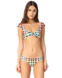 Mara Hoffman - Multicolor Plaid Mustard Bikini Bottoms - Lyst
