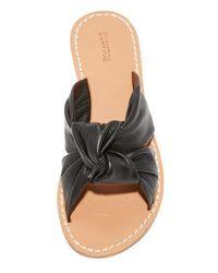 Soludos | Black Knotted Slide Sandals | Lyst