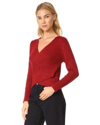 C/meo Collective - Red Feature Knit Pullover - Lyst