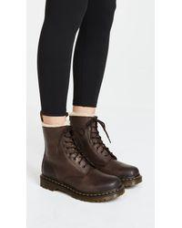 Dr. Martens | Brown Serena 8 Eye Boots | Lyst