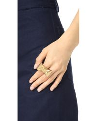 Kate Spade - Metallic All Wrapped Up Statement Ring - Lyst