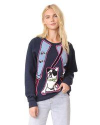 Michaela Buerger - Blue Dog Walking Sweatshirt - Lyst