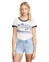 Sol Angeles - White Sailaway Ringer Tee - Lyst