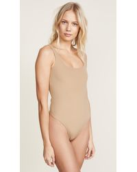 Getting Back to Square One - Natural Square Neck Thong Bodysuit - Lyst