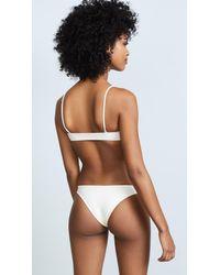 Mikoh Swimwear - White Hermosa Scoop Bikini Top - Lyst