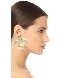 Elizabeth and James - Metallic Dalia Earrings - Lyst