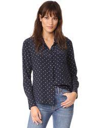Vince - Blue Refined Dot Slim Shirt - Lyst