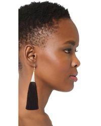 Eddie Borgo - Black Silk Tassel Earrings - Lyst