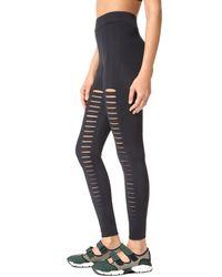 Cushnie et Ochs - Black Sliced Cutout Leggings - Lyst