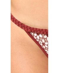 For Love & Lemons - Multicolor Samba Braided Bikini Bottoms - Lyst