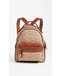 COACH - Brown Signature Campus Backpack - Lyst