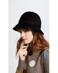 0538faa391e Lyst - Marc Jacobs Fur Kangol Hat in Black