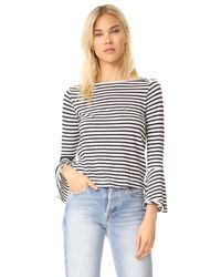 Splendid - White French Stripe Bell Sleeve Top - Lyst