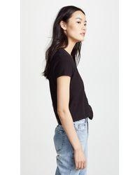 Madewell - Black Miller Short Sleeve Top - Lyst