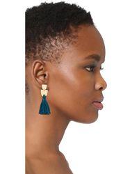Madewell - Blue Tassel Earrings - Lyst
