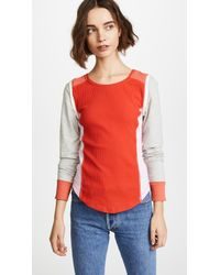 Free People - Red Fancy That Tee - Lyst