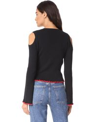 Glamorous - Black Cold Shoulder Sweater - Lyst