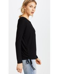 Chaser - Black Side Lace Up Pullover Tee - Lyst
