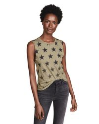 Chrldr - Green Faded Stars Muscle Tee - Lyst