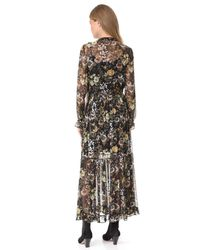 Robert Rodriguez - Black Long Sleeve Ruffle Dress - Lyst