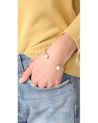 Tory Burch - Metallic Rope Logo Bead Hinge Bracelet - Lyst