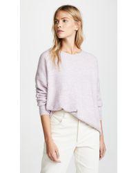 Scotch & Soda - Purple Basic Crew Sweater - Lyst