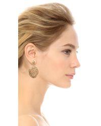 Aurelie Bidermann - Metallic Lace Earrings - Lyst