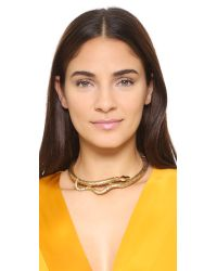 Aurelie Bidermann | Metallic Gold Articulated Snake Necklace | Lyst