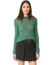 Acne | Green Trixie Alpaca Sweater | Lyst