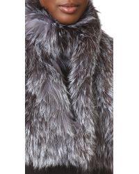 Adrienne Landau - Metallic Knit Silver Fox Scarf - Lyst