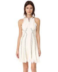 Alexander Wang | Blue Ring Piercing Tweed Dress | Lyst