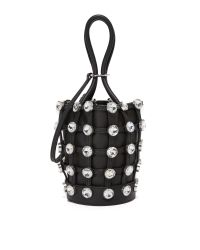 Alexander Wang | Black Crystal Roxy Mini Bucket Bag | Lyst