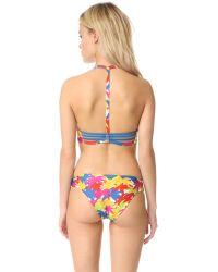 Basta Surf | Black Popoyo Reversible Bikini Top | Lyst