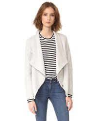 BB Dakota | Gray Samily Fleece Moto Jacket | Lyst