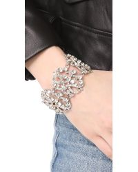 Ben-Amun | Metallic Lace Station Wide Bracelet | Lyst