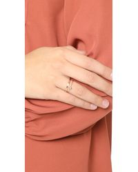 Blanca Monros Gomez - Pink White Diamond Seed Ring - Lyst