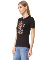 Carven - Black Printed Tee - Lyst