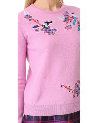 Carven - Blue Applique Sweater - Lyst