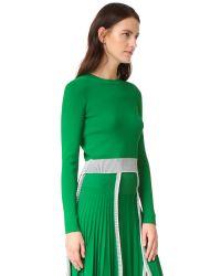 Cedric Charlier - Green Crop Sweater - Lyst