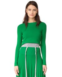 Cedric Charlier | Green Crop Sweater | Lyst