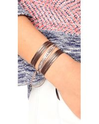 Chan Luu | Multicolor Raw Cut Leather Wrap Bracelet | Lyst