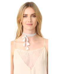 Chan Luu | Multicolor Convertible Chiffon Necktie With Tassels | Lyst