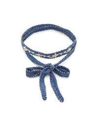 Chan Luu | Blue Embroidered Convertible Choker Necklace | Lyst