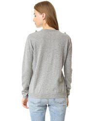 Chinti & Parker - Gray Ruffle Panel Sweater - Lyst