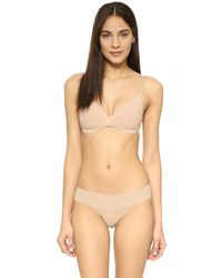Calvin Klein | Natural Perfectly Fit Wireless Contour Bra | Lyst