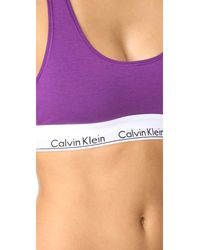 Calvin Klein - Multicolor Modern Cotton Bralette - Lyst