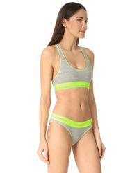 Calvin Klein - Green Modern Cotton Bralette - Lyst