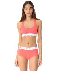 Calvin Klein | Pink Modern Cotton Bralette | Lyst