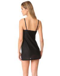 Calvin Klein - Black Sheer Marq V Neck Chemise - Lyst